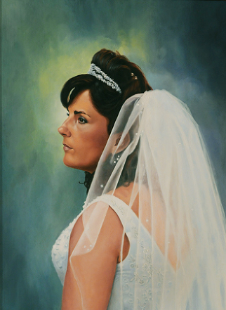 Oil painting of my wife. It was painted off of a photograph taken by Steven Mastroianni.