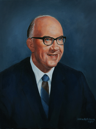 Principal in Mayfield School District (retired) - Oil on canvas