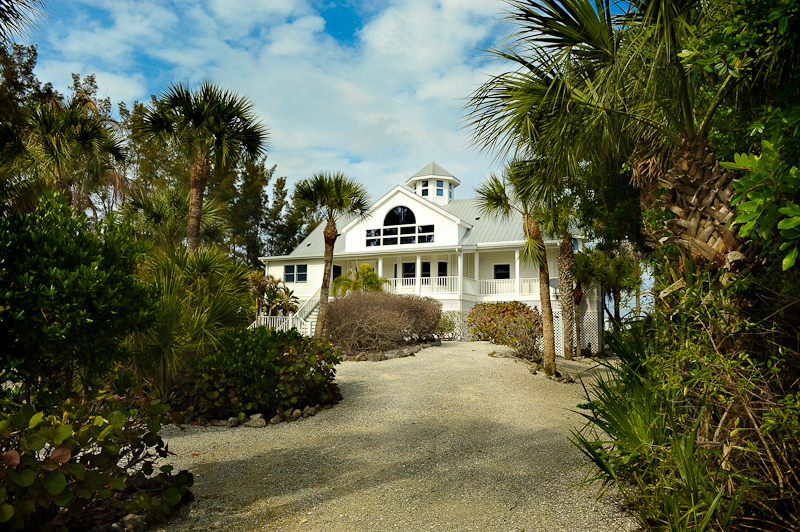 This is the front of the beach house that belongs to my cousin and his family. The back of the house faces the bay between the island and the mainland. We spent a lot of time on the dock relaxing and watching the boats go by. This house was the perfect get-away.